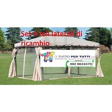 Immagine di SET 4 TELI LATERALI X GAZEBO ADVENTURE MT.3X4